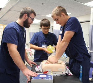 Students practicing CPR