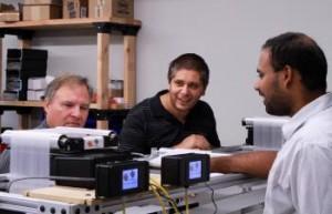 Entrepreneurs in their workspace