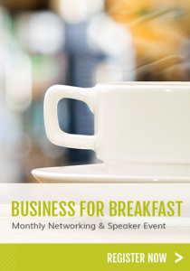 Business for breakfast and coffee cup