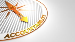 Accountability Image with a Compass