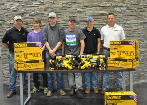 High School Team Works Team with Instructors and DeWalt Tools