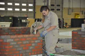 Student competes in masonry competition