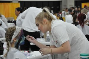 Student competes in Esthetician Competition