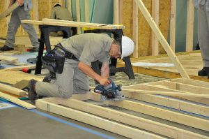 Student competes in carpentry