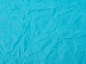 Photo of crumpled blue construction paper